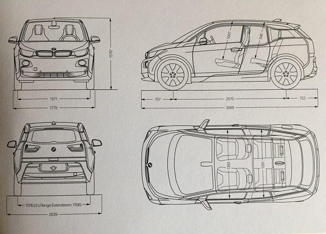 BMW i3 94 Ah Rex bateria, zasięg, czas ładowania, wnętrze, wygląd zewnętrzny, światła LED, range extender, dane techniczne, wymiary