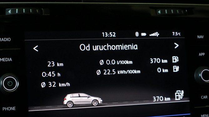 Volkswagen Golf GTE, dane techniczne, specyfikacja, bateria, czas ładowania, akumulator, moc, wtyczka, złącze, osiągi, zasięg (10)