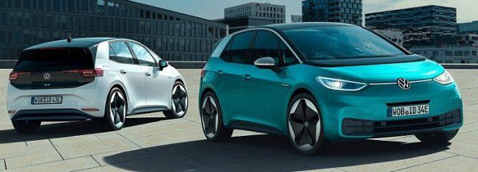 Volkswagen ID.3, sprzedaż aut elektrycznych w Niemczech, sprzedaż EV samochodów elektrycznych Niemcy