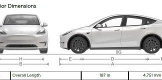 Wymiary Tesli Model Y. Porównanie Tesli Model 3 z Teslą Model Y. Wymiary. Auta elektryczne. Samochody Elektryczne. Tesla.