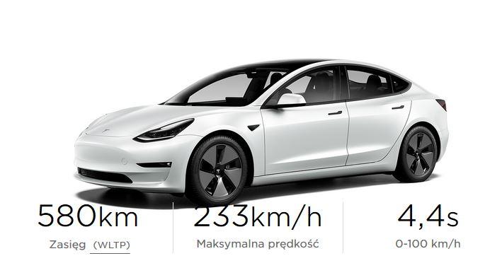 Tesla model 3 po liftingu