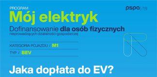 dopłaty do samochodów elektrycznych, dopłaty do ev, program mój elektryk