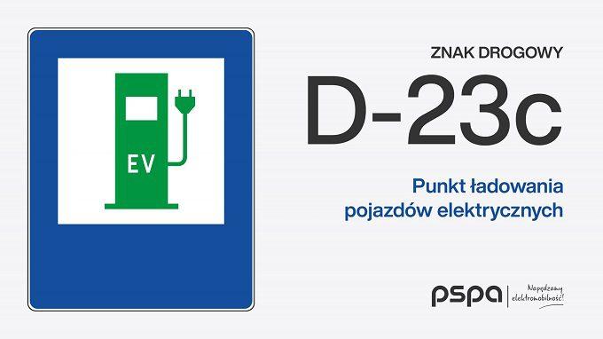 Punkt ładowania pojazdów elektrycznych D-23c